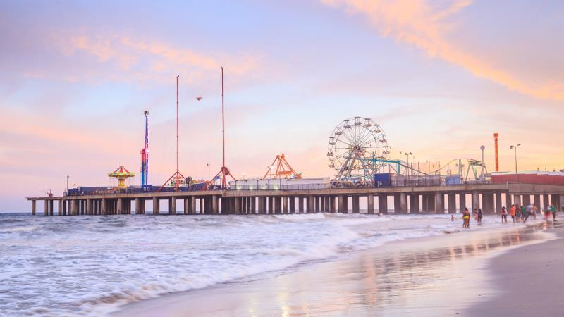 The Steel Pier At Atlantic City In New Jersey